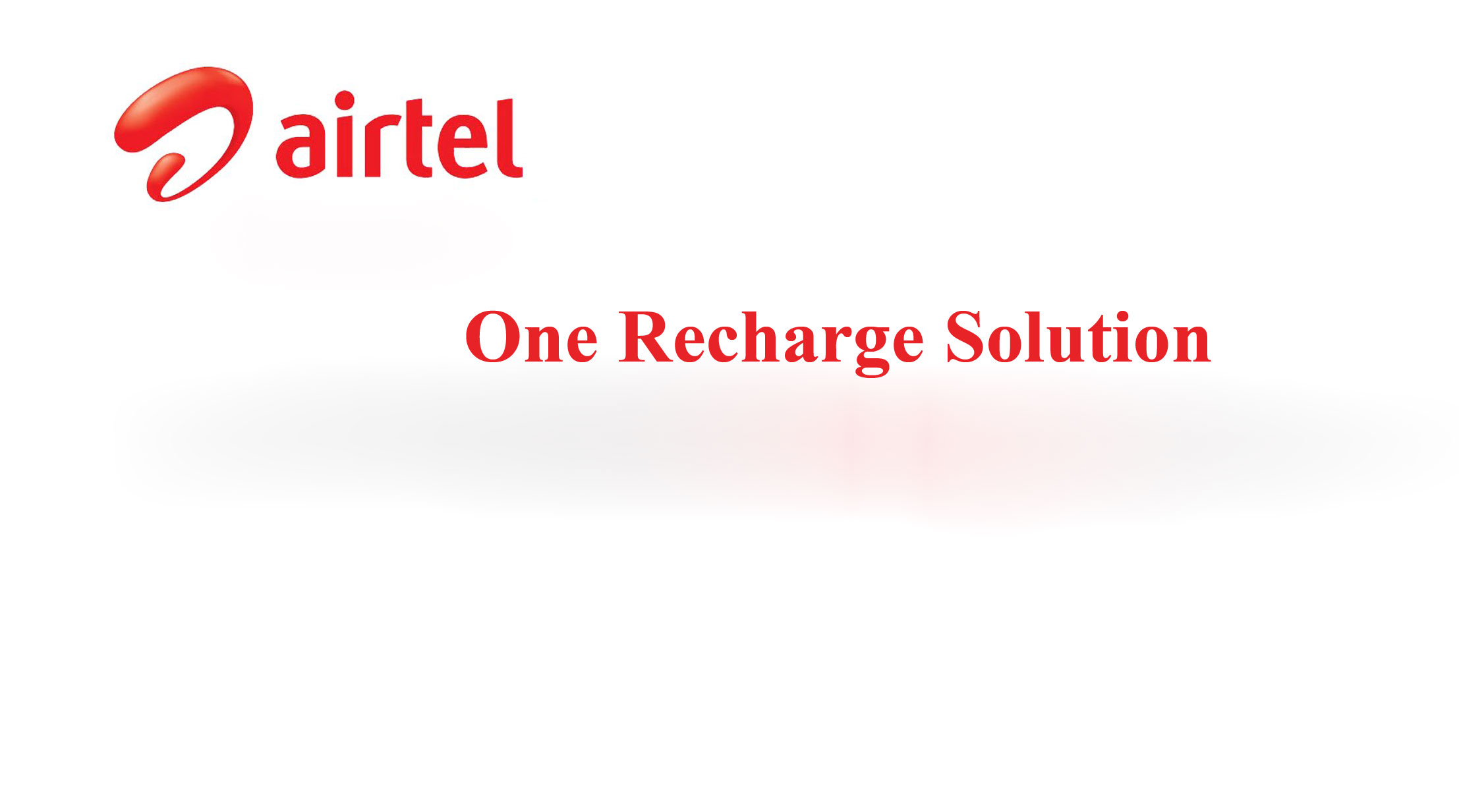 One Recharge Solution