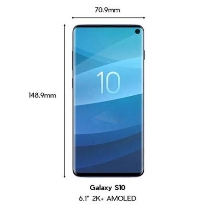 Samsung Galaxy S10 Body Size
