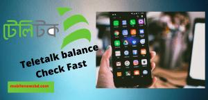 Teletalk Balance Check